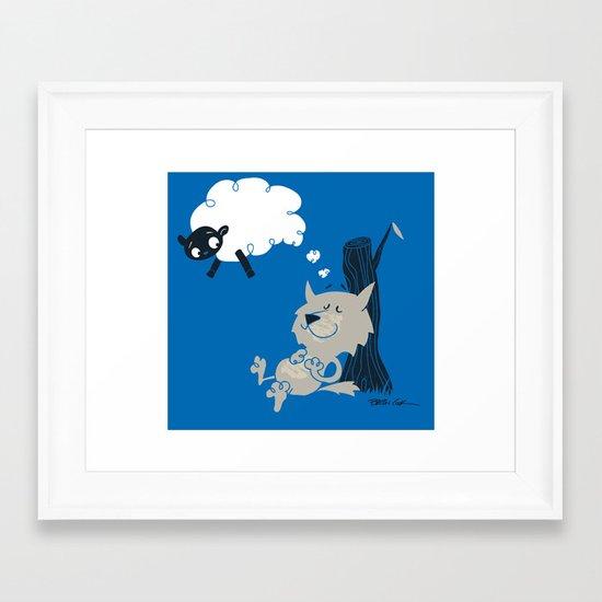 Shleep Framed Art Print