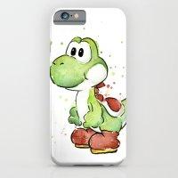 Yoshi Watercolor Mario iPhone 6 Slim Case