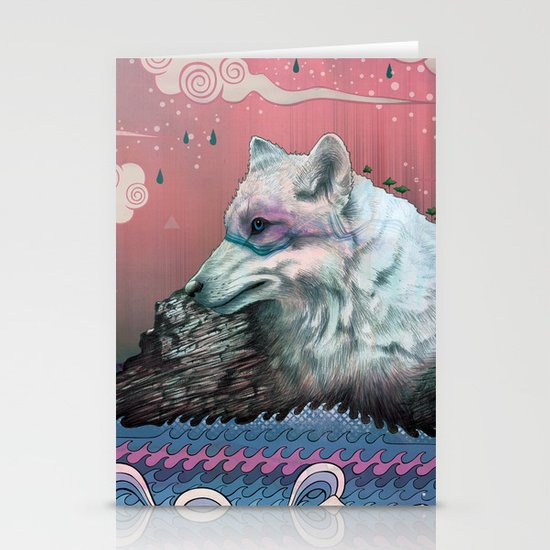 Lone Wolf Stationery Card