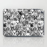christmas dogs iPad Case