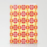 Red Yellow Tiles Stationery Cards