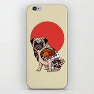 Yakuza Pug iPhone & iPod Skin