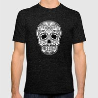 Mexican Skull - Black Ed… Mens Fitted Tee Tri-Black SMALL