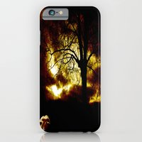 iPhone & iPod Case featuring Cow in storm by monjii art