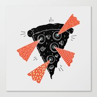Lazer Pizza Canvas Print