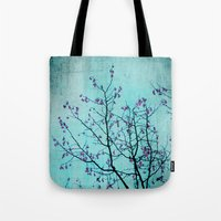 pink berries Tote Bag