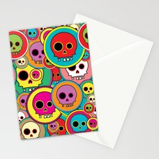 Button Skulls Stationery Cards