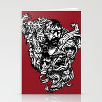 Horror Doodle Stationery Cards