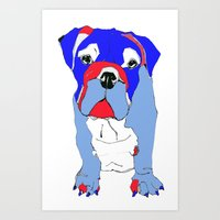 Britishy Bulldog Art Print