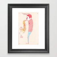 Jazz Musician Framed Art Print