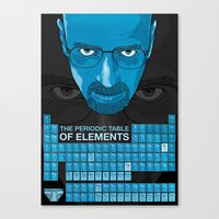 WALTER WHITE PERIODIC TABLE Canvas Print