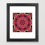 Fantasy Flower Kaleidosc… Framed Art Print