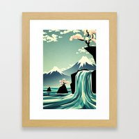 Waterfall blossom dream Framed Art Print