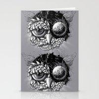 Owl Day & Owl Night Stationery Cards