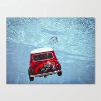 Deep Water Swimming Mini… Canvas Print
