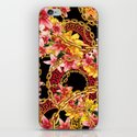 Chained in Gold  Flowers iPhone & iPod Skin