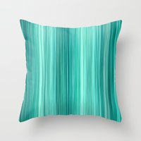 Ambient 5 Teal Throw Pillow