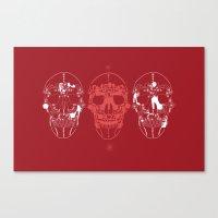 shoes make a skull Canvas Print