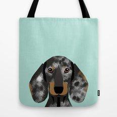 Doxie Dachshund merle dapple dog cute must have dog accessories dog gifts cute doxies dachshunds des Tote Bag