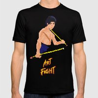 Art Fight Mens Fitted Tee Black SMALL