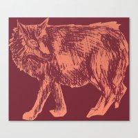 Pink Wolf Canvas Print
