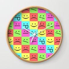 Smiley Chess Board Wall Clock