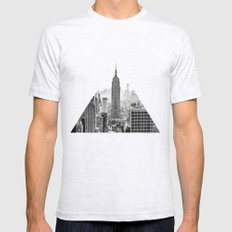 New York City Mens Fitted Tee Ash Grey SMALL