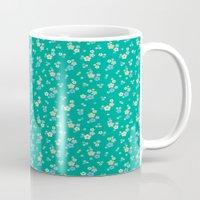 blossom ditsy in emerald Mug