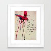 Brightest Little Firefly Framed Art Print