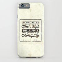 "iPhone & iPod Case featuring Psalm 91:1 ""He who dwells in the secret place..."" by Pocket Fuel"