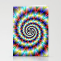 Psychedelic Twist Stationery Cards