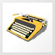 Yellow Typewriter Art Print