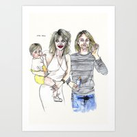 The cobains Art Print