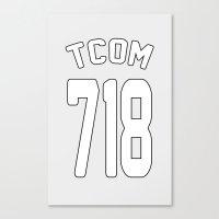 TCOM 718 AREA CODE JERSE… Canvas Print