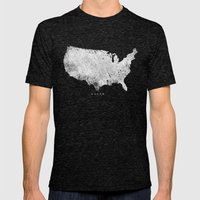 USA Mens Fitted Tee Tri-Black SMALL