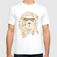 'king Cool Mens Fitted Tee White SMALL