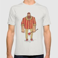The Woodchop Mens Fitted Tee Silver SMALL