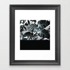 Palm Leaves and Black Framed Art Print