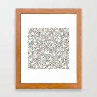 pencil pinatas Framed Art Print