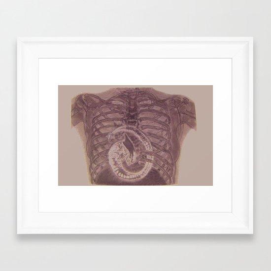 Birth Of Queen Alien Framed Art Print