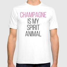 Champagne Spirit Animal Funny Quote SMALL White Mens Fitted Tee