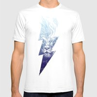 King Of The Clouds Mens Fitted Tee White SMALL
