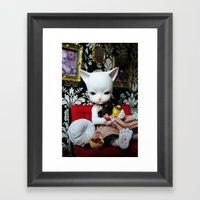 WEEKEND AT HOME (Cat Dol… Framed Art Print