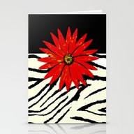 Animal Print Black And W… Stationery Cards