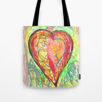 torn heart Tote Bag