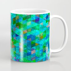 Colored Triangles Green / Blue Mug