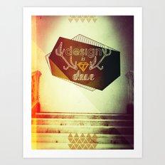 design is chic Art Print