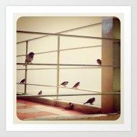 The Little Birds Art Print