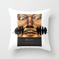 Dali Vineyards Wine Label Throw Pillow