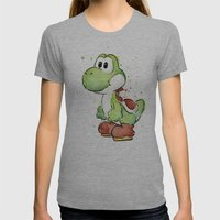 Yoshi Womens Fitted Tee Athletic Grey SMALL
